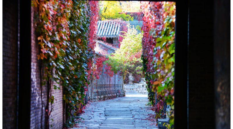 长城脚下的红叶小镇